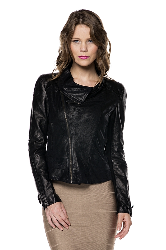 BLACK SUEDE JACKET - orangeshine.com