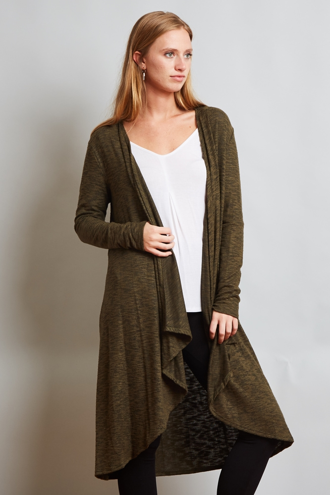 Hacci Two Tone Long Cardigan - orangeshine.com