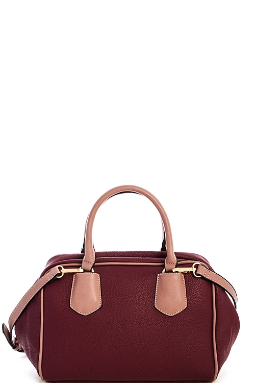 Two Tone Satchel with Bag - orangeshine.com