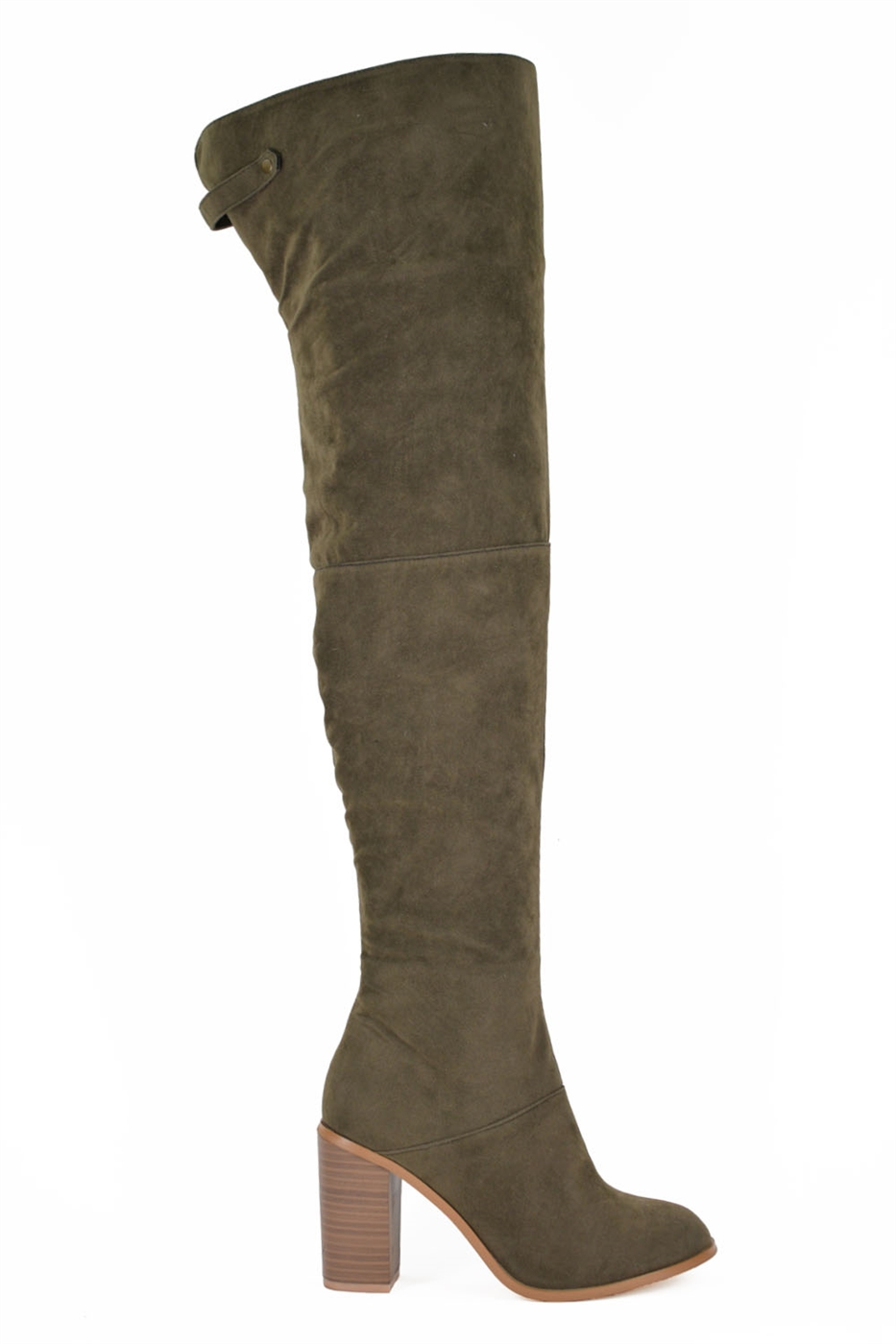 Over the Knee Heeled Boots - orangeshine.com