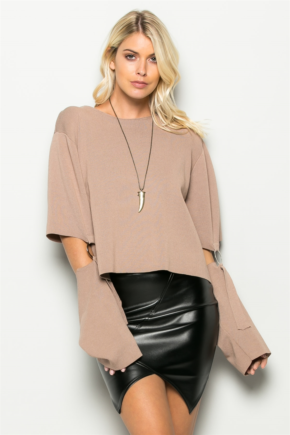 ATTACHED CUTOUT SLV KNIT - orangeshine.com