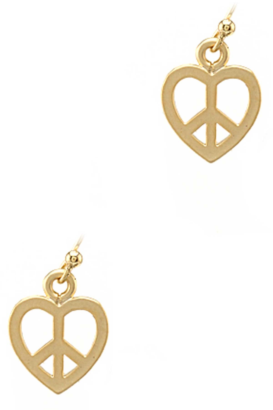 PEACE HEART DANGLE EARRING - orangeshine.com