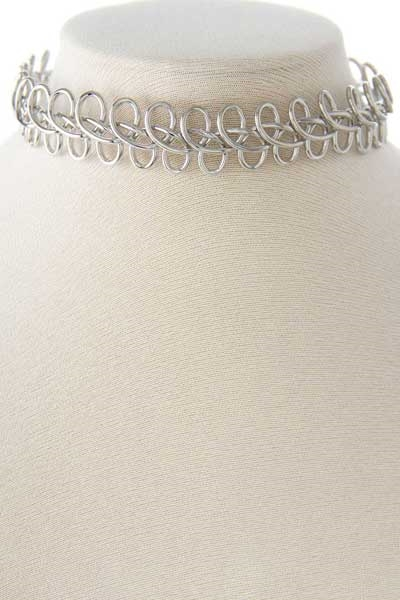 WIRE CRISSCROSSED CHOKER - orangeshine.com