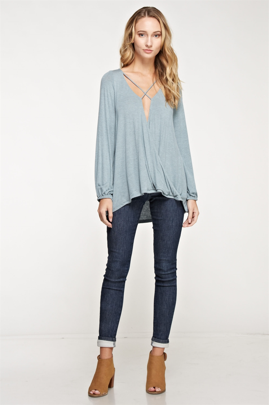 Plunge Surplice Top - orangeshine.com