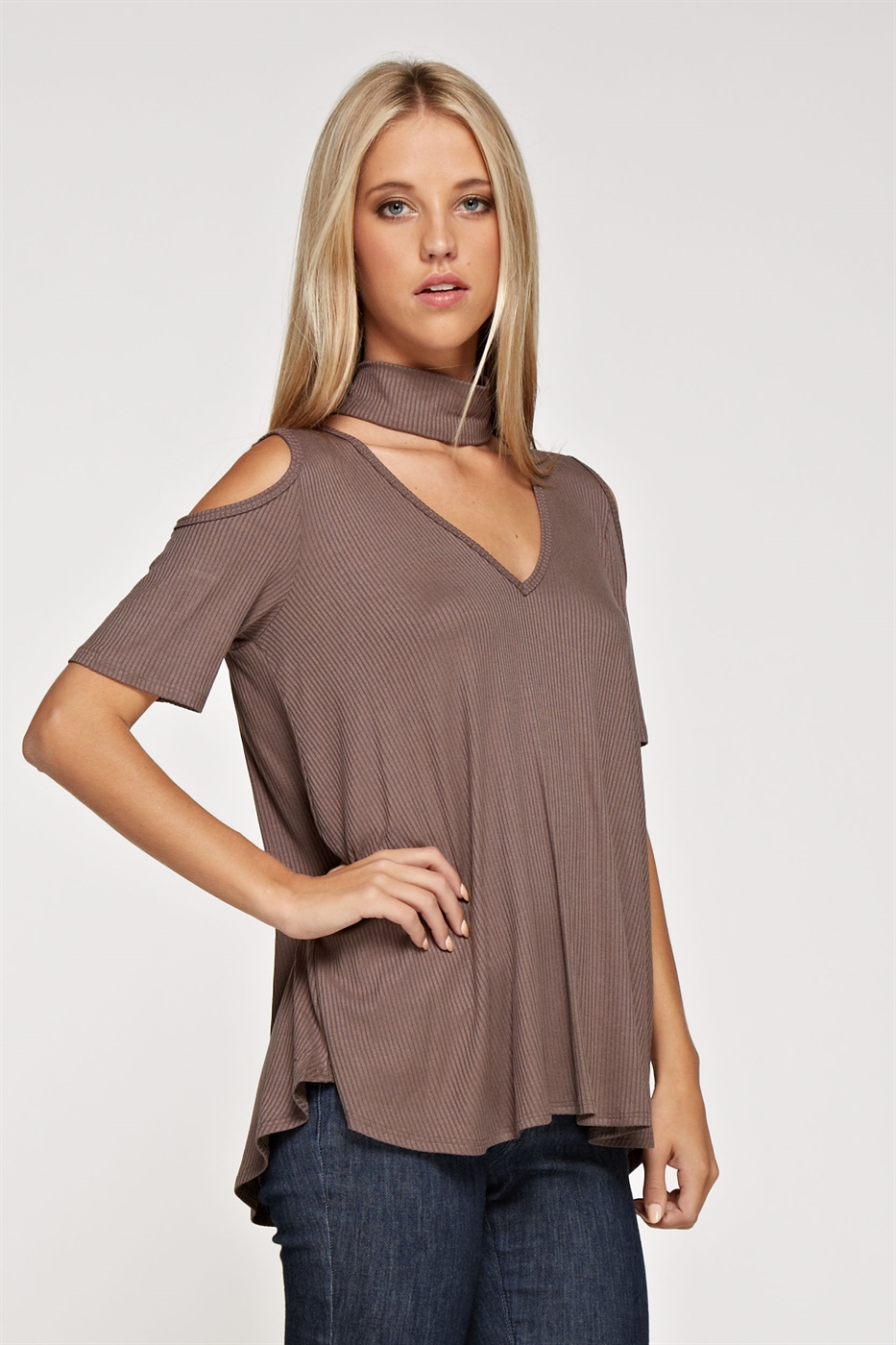 Chocker neck short sleeve - orangeshine.com