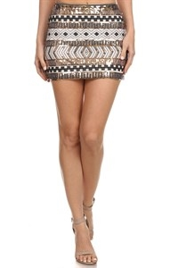 SEQUIN MINI SKIRT - orangeshine.com