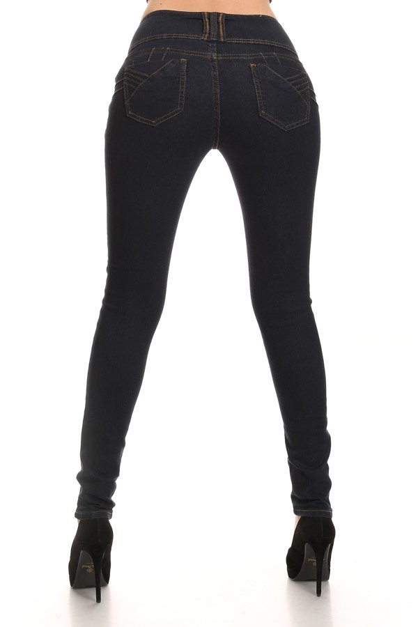 HGHIWAIST SKINNY JEANS SOLID - orangeshine.com