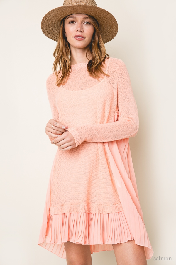 Knit Sweater Tunic - orangeshine.com