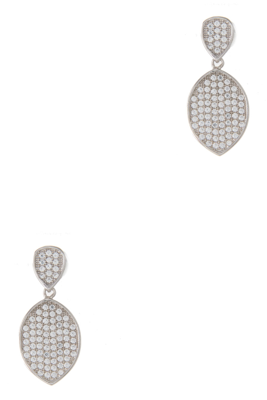 CRYSTAL PAVE DANGLE EARRING - orangeshine.com