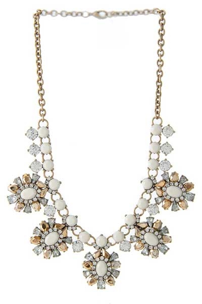 ELEGANT OVAL CLUSTER NECKLACE - orangeshine.com
