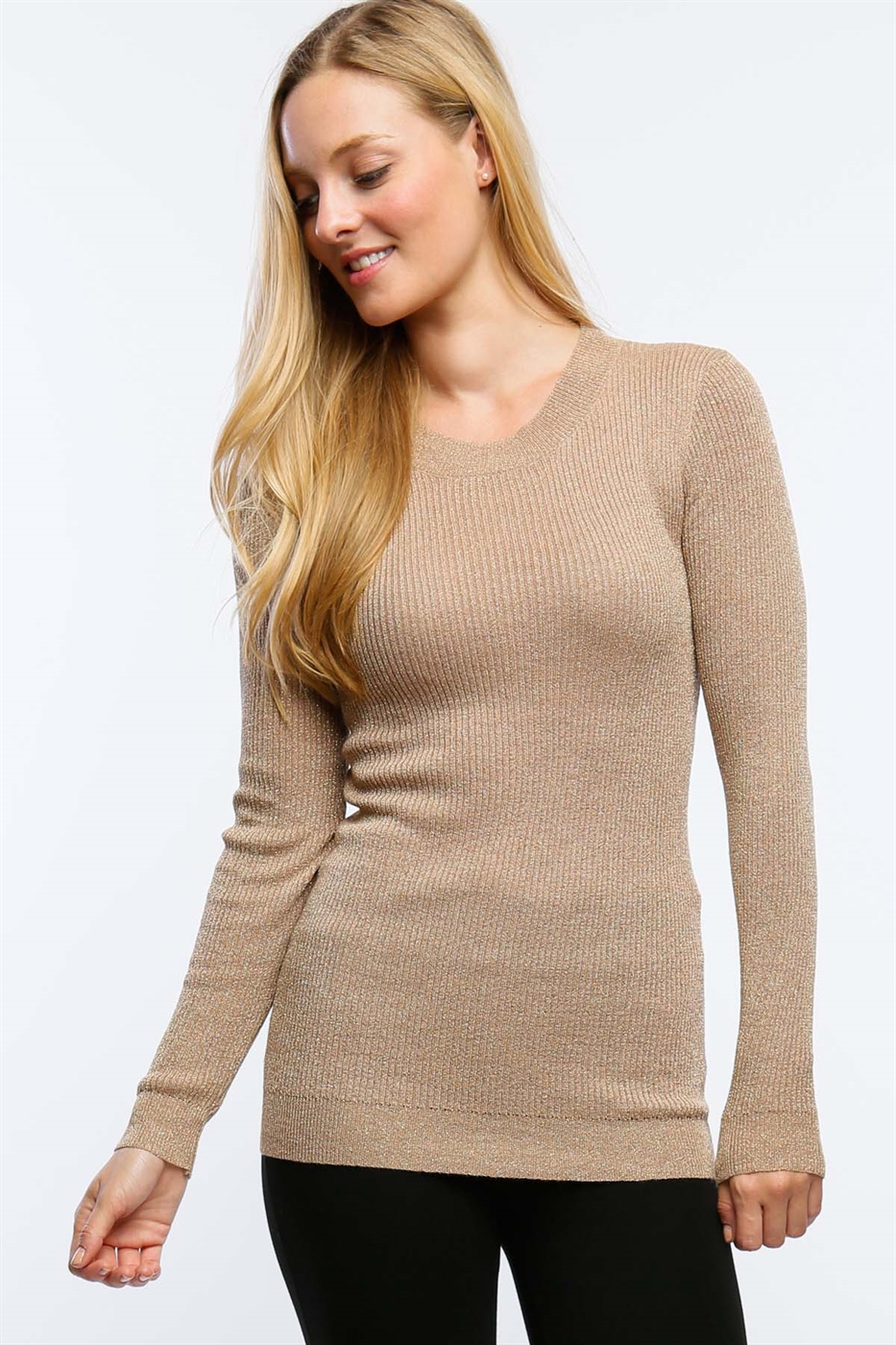 RIBBED SWEATER WITH LUREX - orangeshine.com