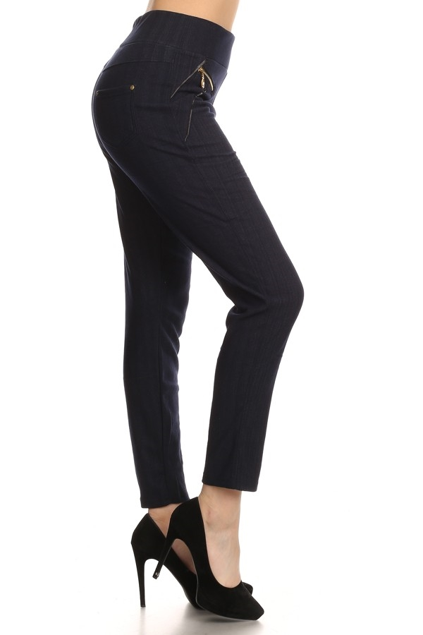 JEAN LEGGING  WITH FLEECE BLUE - orangeshine.com