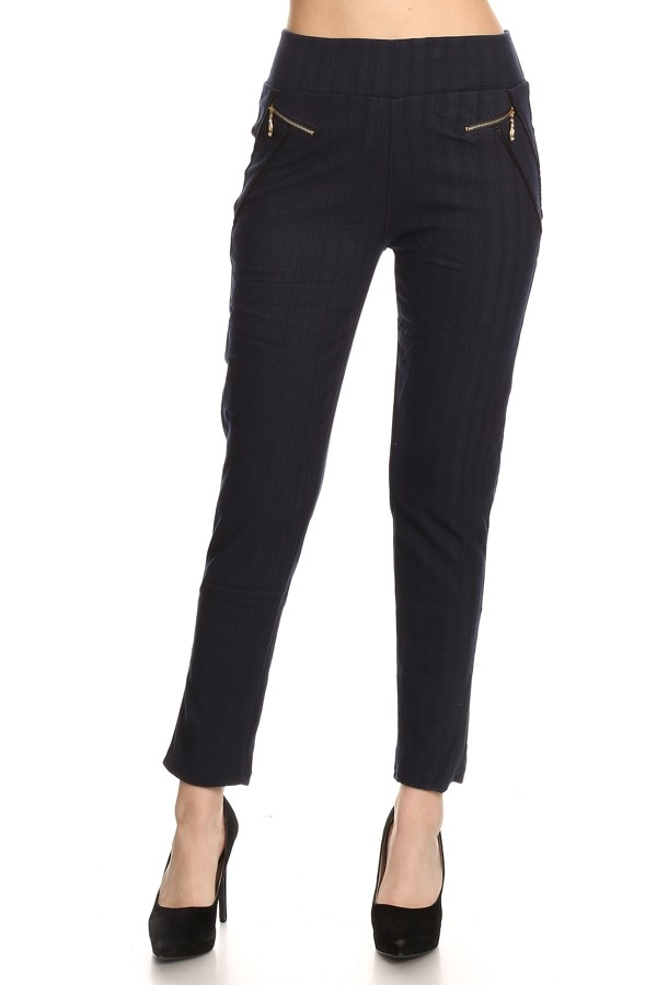 BLACK FLEECE JEAN LEGGINGS - orangeshine.com