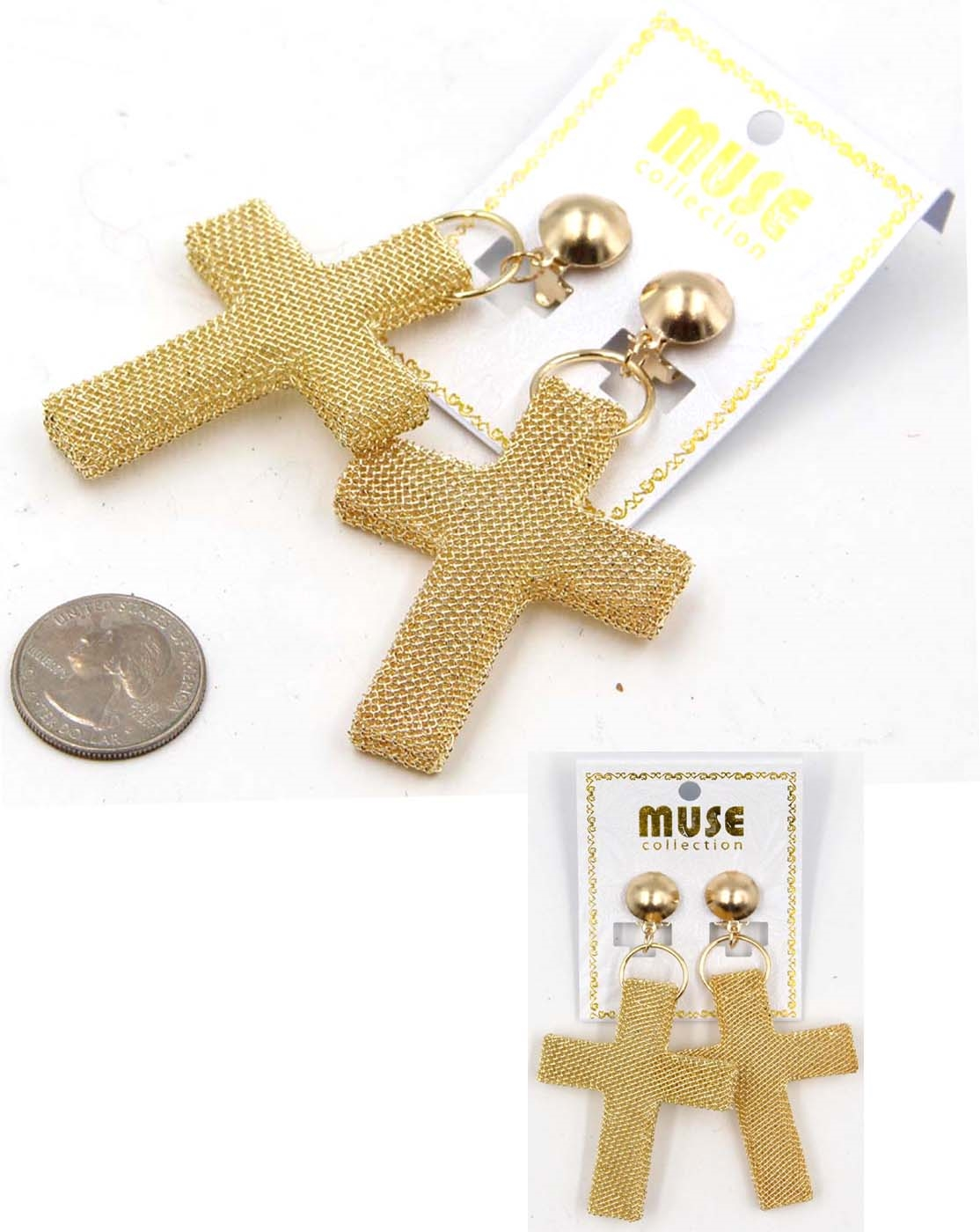 CROSS EARRINGS - orangeshine.com