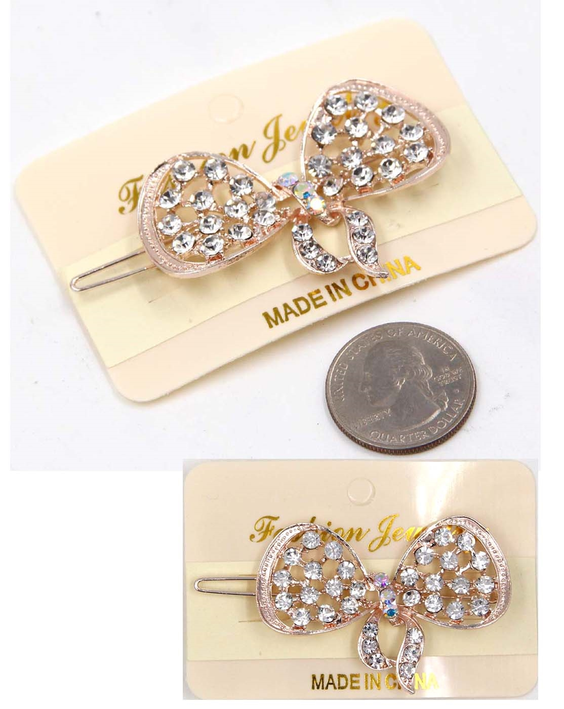 METAL HAIR PIN W/RHINESTONE - orangeshine.com