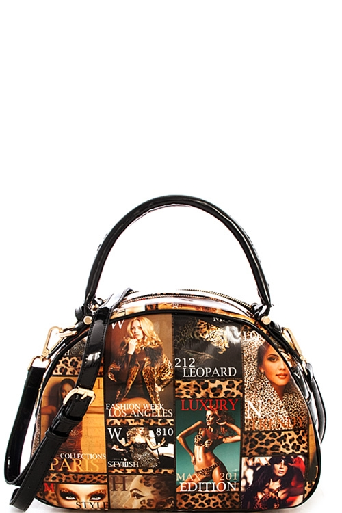 Trendy Magazine Domed Satchel - orangeshine.com
