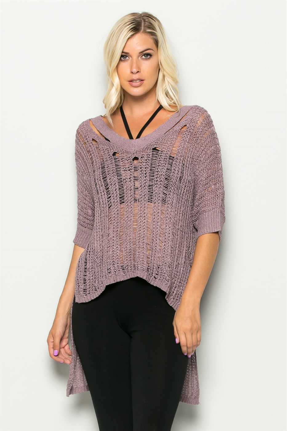 SUNNY DAYS TAILORED KNIT TOP - orangeshine.com