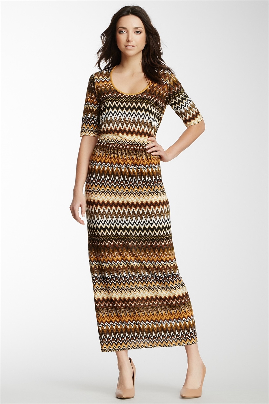 Chevron Dress - orangeshine.com