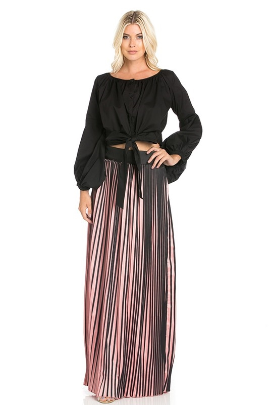 Pink Accordian Skirt - orangeshine.com