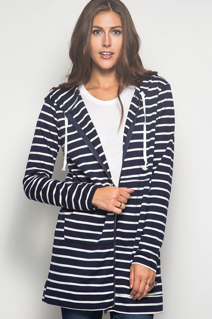 SL1831 HOOD STRIPES JACKET - orangeshine.com