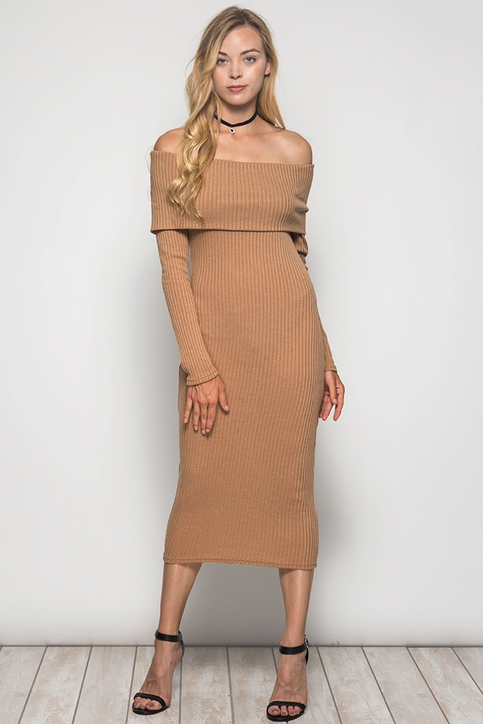 SL2891- BODYCON  MIDI DRESS - orangeshine.com