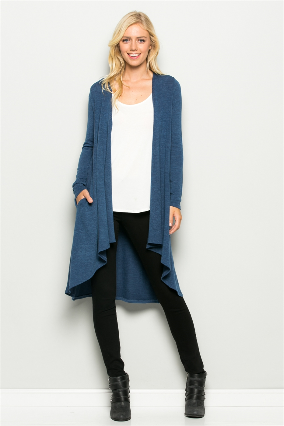 Long Sleeve Knit Cardigan - orangeshine.com