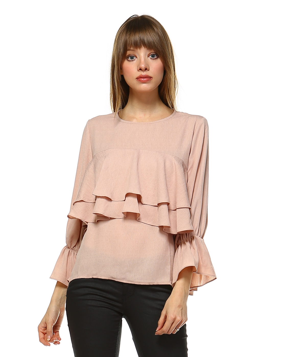 TIERED RUFFLE TOP - orangeshine.com