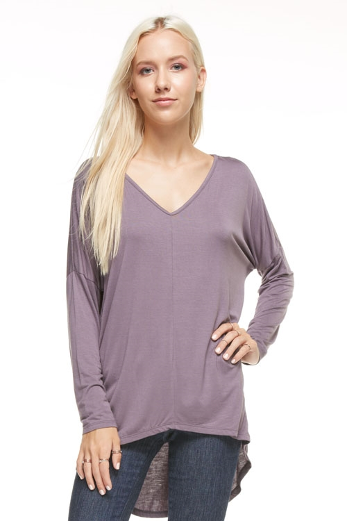 HI LOW V NECK - orangeshine.com
