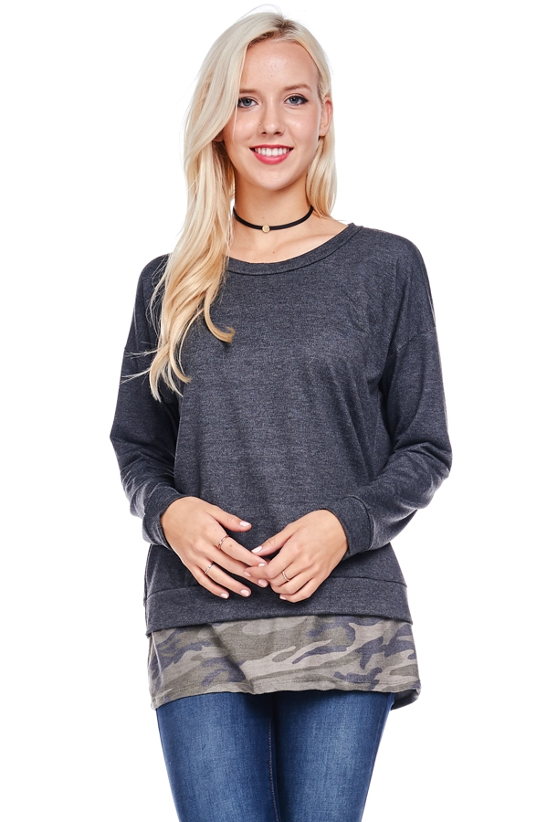 CAMO SWEATER - orangeshine.com
