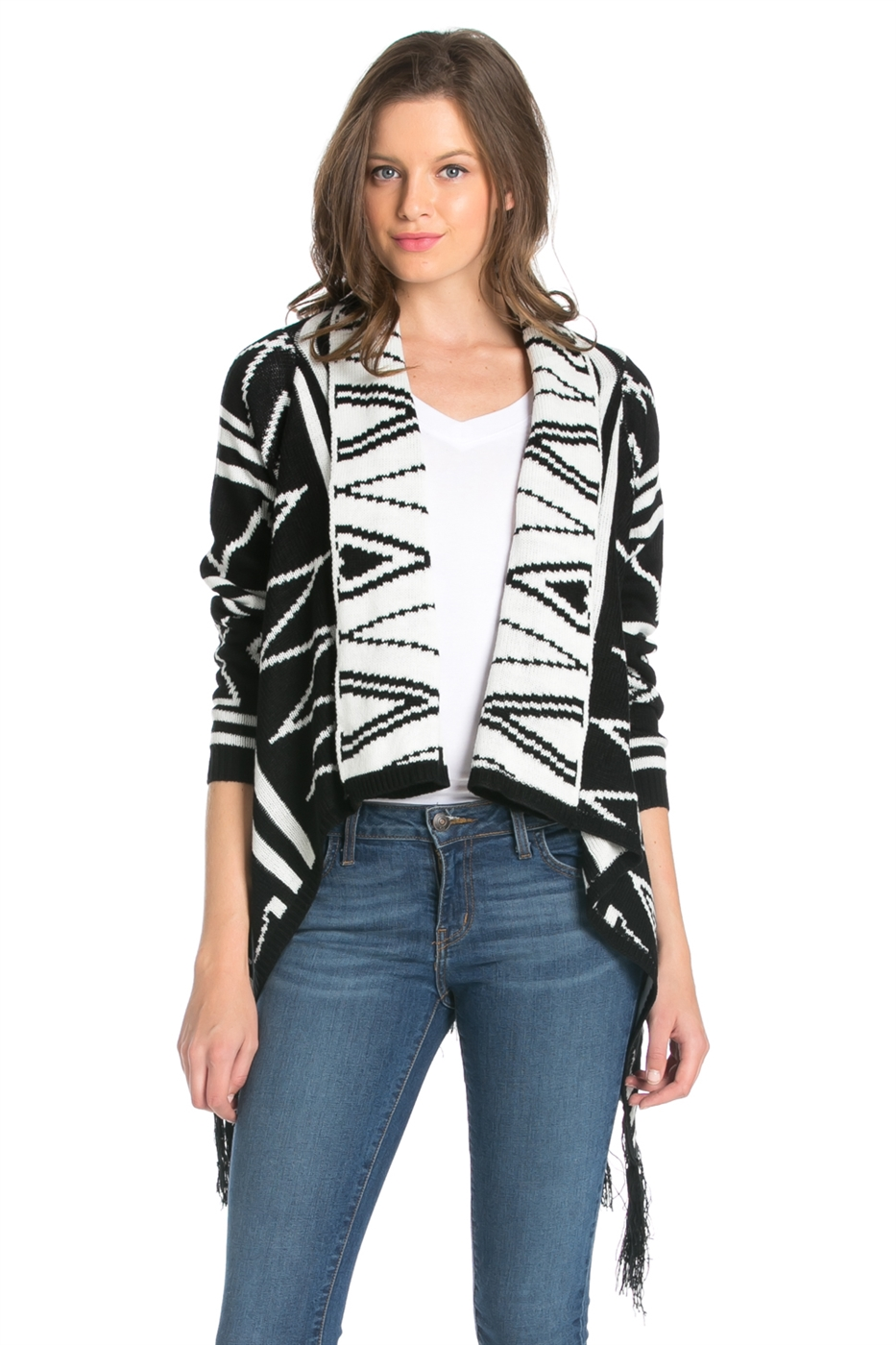 MULTI STRIPE PATTERN CARDIGAN - orangeshine.com