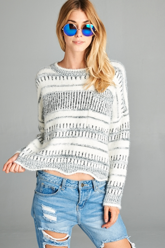 IMPORT CROP SWEATER - orangeshine.com