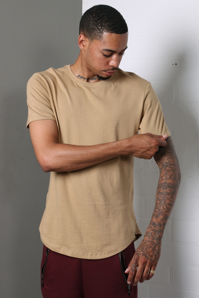 SIDE ZIPPER T-SHIRT - BURGUNDY - orangeshine.com