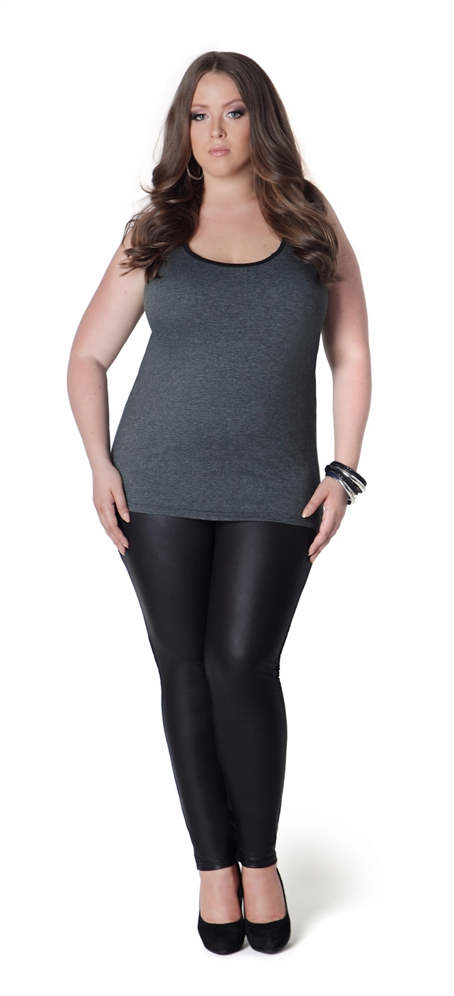 Grey Plus Tank - orangeshine.com