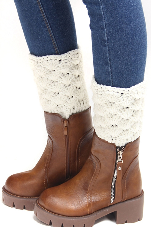 Scale Knit Leg Warmers - orangeshine.com