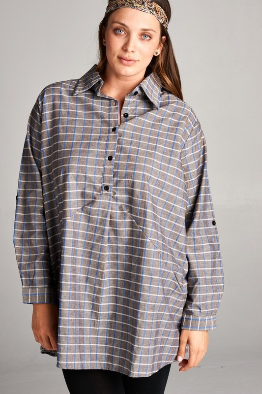 TOP PLAID SHIRT - orangeshine.com