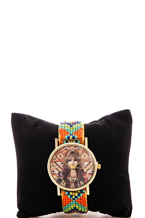 Nicole Lee Beaded Watch - orangeshine.com