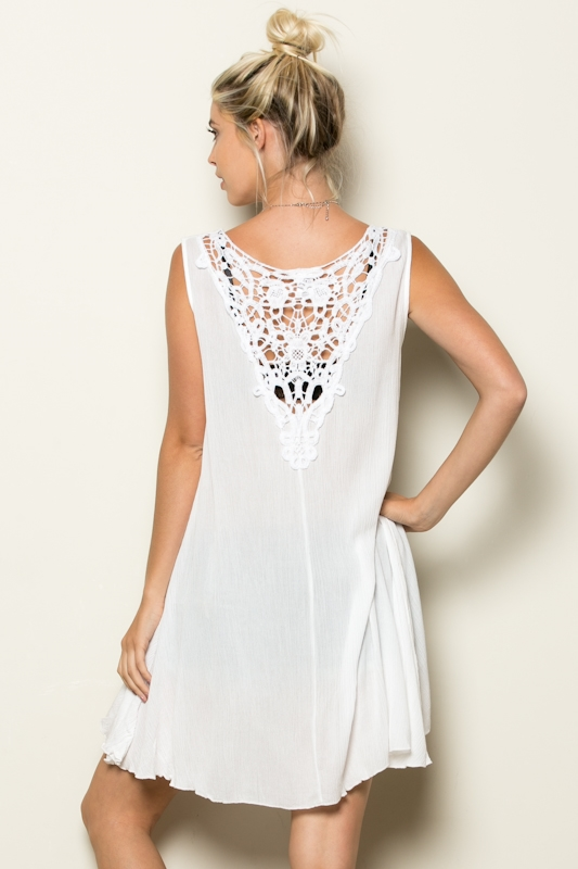 HIGH N LOW HALF LACEBACK TUNIC - orangeshine.com