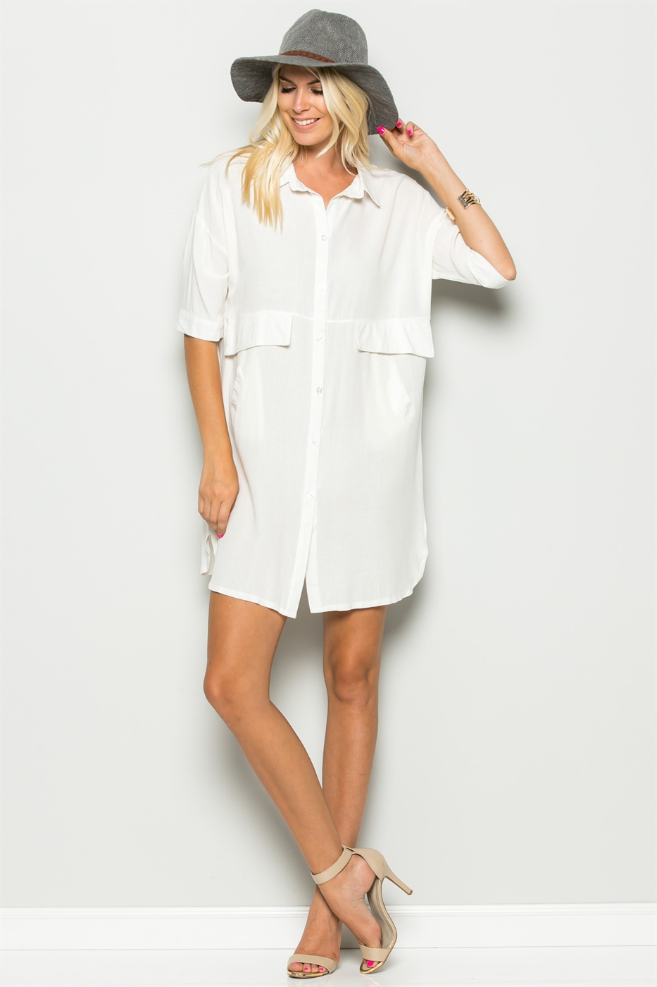 BUTTON DOWN DRESS - orangeshine.com