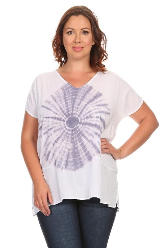 CIRCLE TIE DYE RELAXED TOP - orangeshine.com