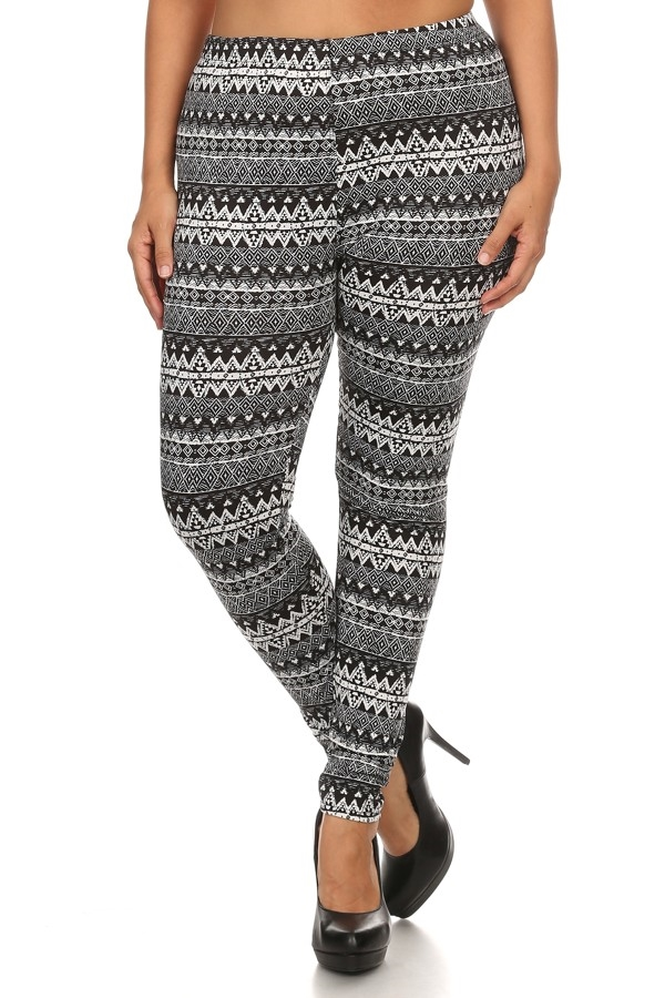 Plus Size Fleece Leggings - orangeshine.com
