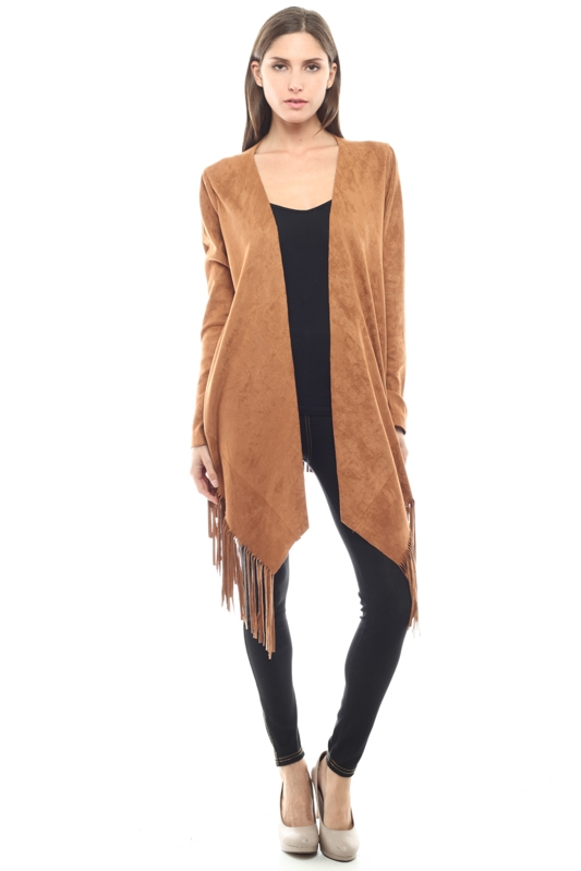 LONG SLEEVE CAMEL VEST - orangeshine.com
