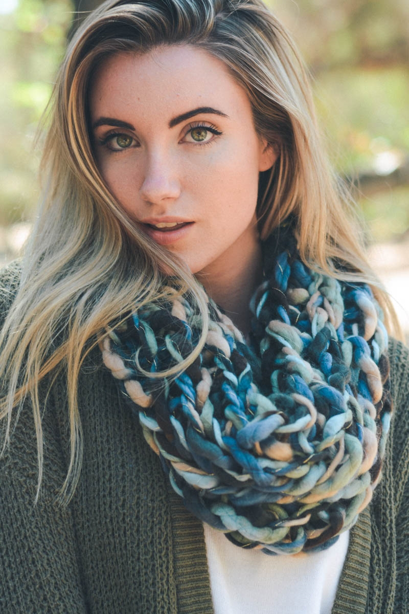 Multicolor Braided Snood - orangeshine.com