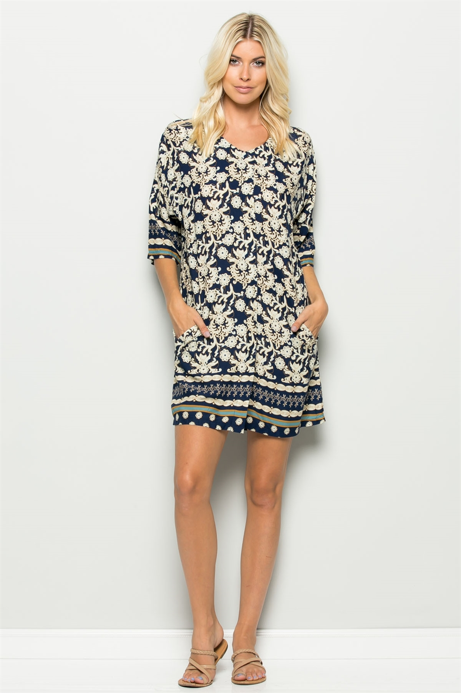 PRINT TUNIC DRESS - orangeshine.com