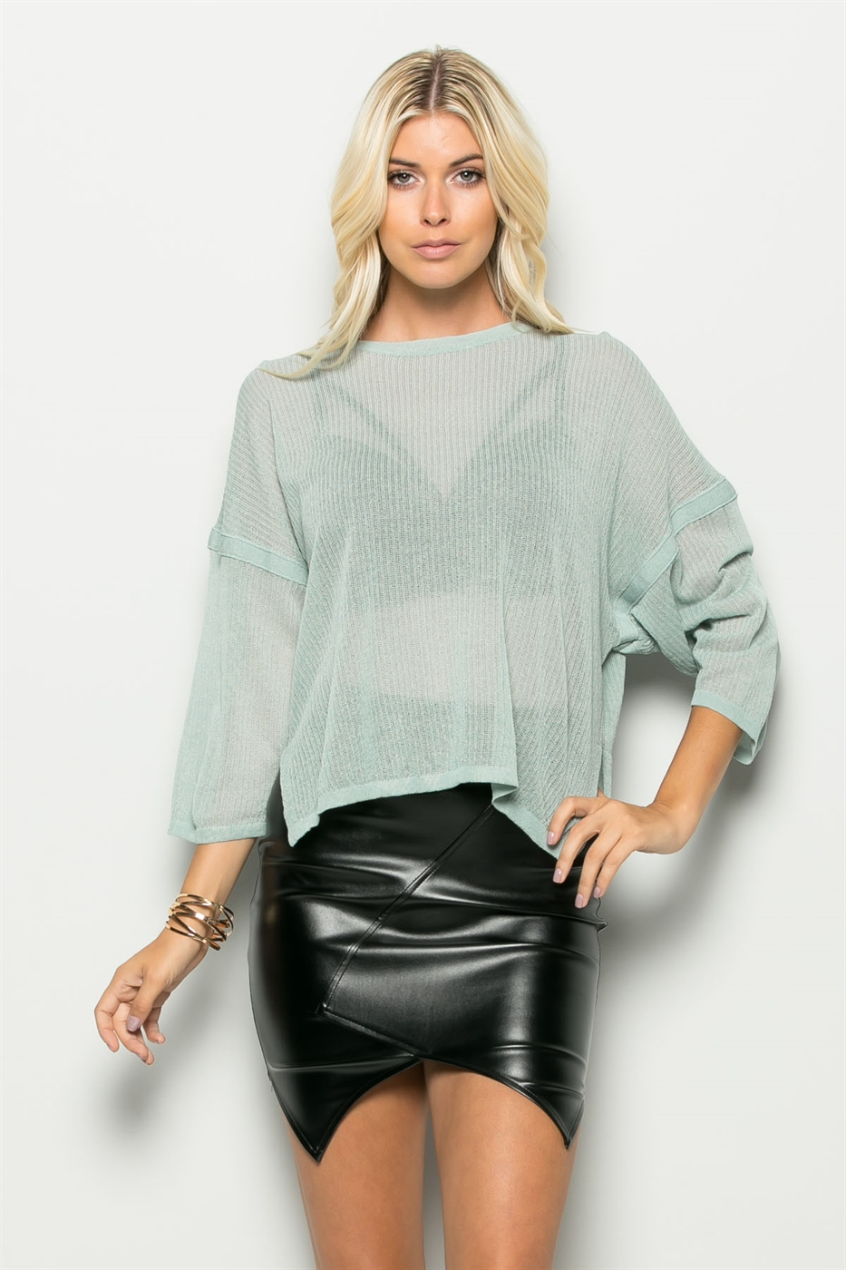 OVER SIZE KNIT TOP - orangeshine.com