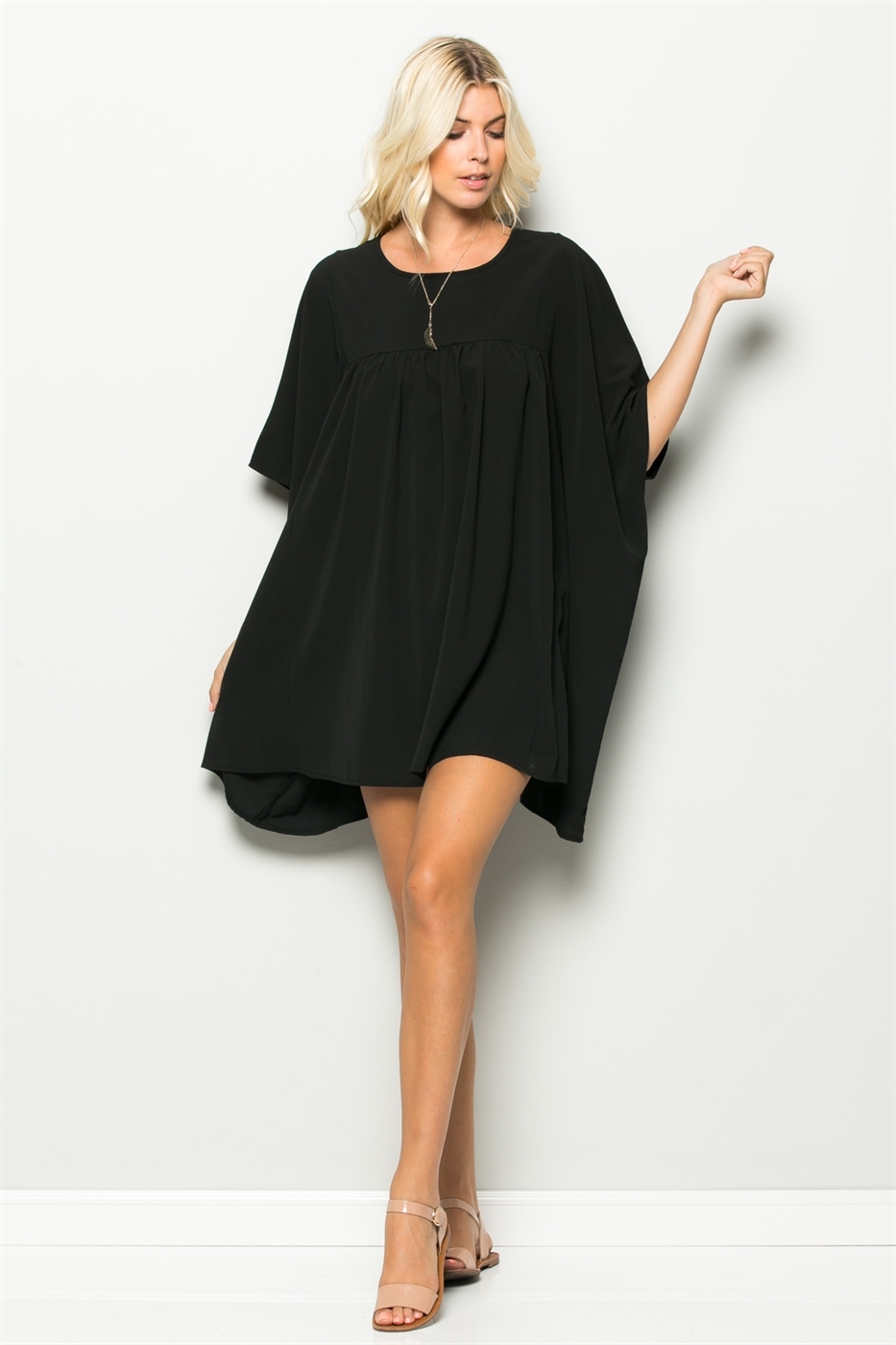 HIGH LOW TUNIC DRESS - orangeshine.com