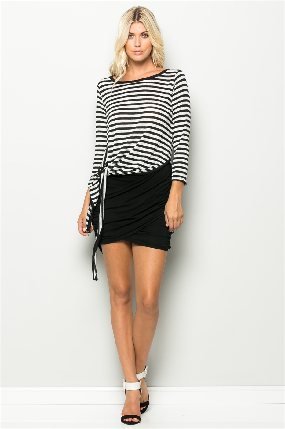 HIGH AND LOW STRIPE TOP - orangeshine.com