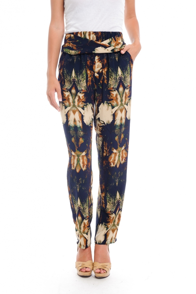 Multi Print Pants - orangeshine.com