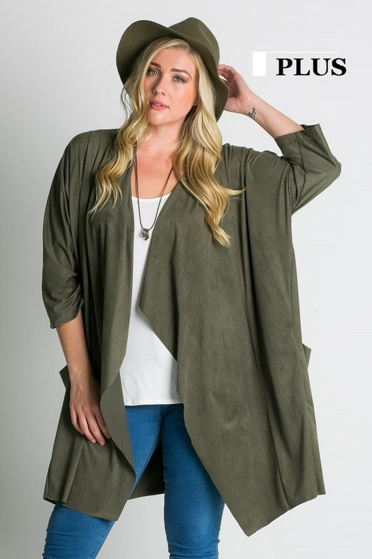Open front draped jacket - orangeshine.com