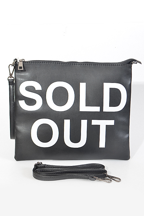 Sold Out Shopping Clutch - orangeshine.com