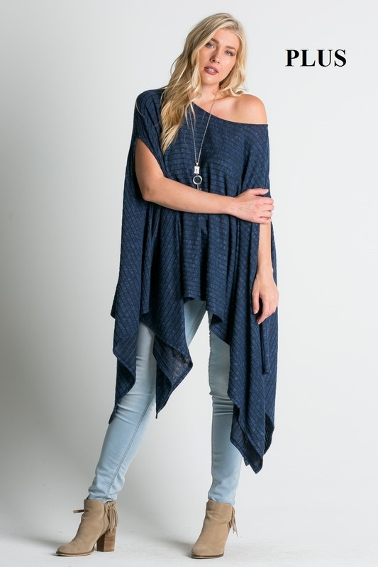 off shoulder poncho top - orangeshine.com
